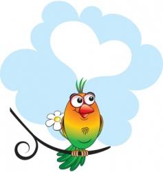 silly bird vector image