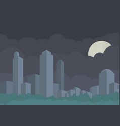 stylized panorama of the city buildings vector image
