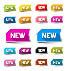 New Colorful Paper Labels - Stickers Set Isolated vector image