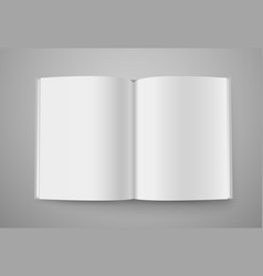 open book mockup ready for a content vector image vector image