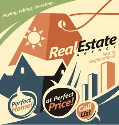 Promotional document template for real estate agen vector image