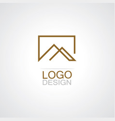 square line real estate logo vector image