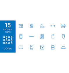 15 cover icons vector