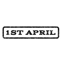 1st april watermark stamp vector