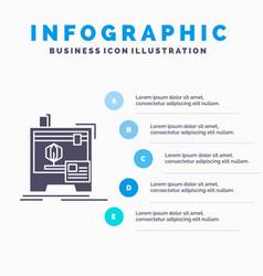 3d dimensional machine printer printing vector image