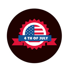 4th july independence day american flag badge vector image