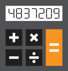 A simple calculator vector