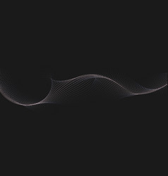 abstract background with dynamic waves line vector image