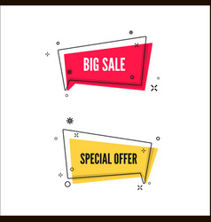 abstract big sale and special offer banners vector image