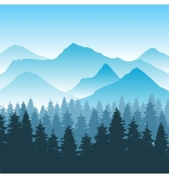 abstract hiking adventure background vector image
