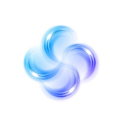 abstract shape quarterfoil blue vector image