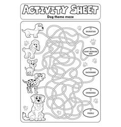 Activity sheet dog theme 1 vector