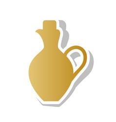 Amphora sign golden gradient vector