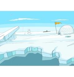 Arctic cartoon background vector