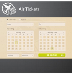 Avia interface vector image vector image
