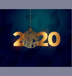Beautiful 2020 golden new year text vector