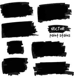 Black paint spots set vector image