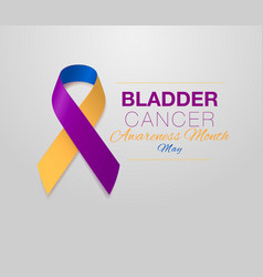 Bladder cancer awareness calligraphy poster design vector