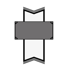 Blank emblem image icon vector
