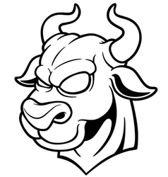 Bull outline vector image