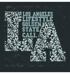 california t-shirt school athletics apparel stamp vector image