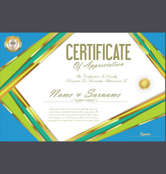 Certificate retro design template 30 vector