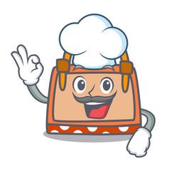 Chef hand bag character cartoon vector