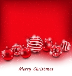 Christmas Abstract Background with Red Balls vector image