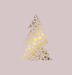 Christmas card rose gold vector