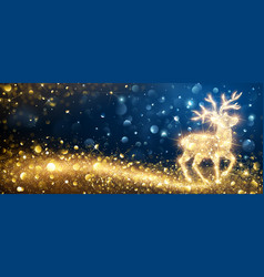 Christmas magic deer vector