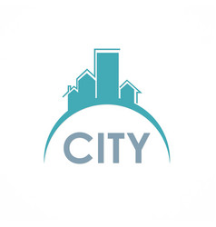 city building logo vector image