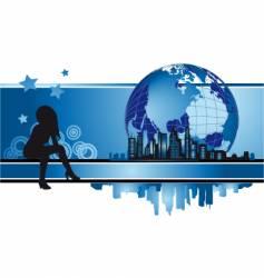 cityscape urban frame fashion silhouette vector image