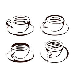 Coffee cup shapes vector