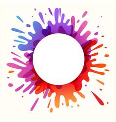 Color paint splash banner vector