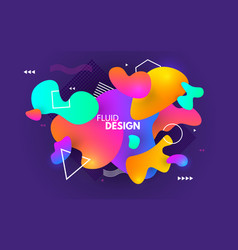 color shapes design fluid abstract background vector image