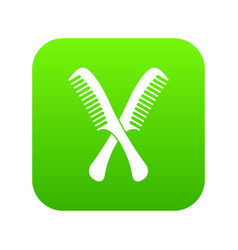 Combs icon digital green vector