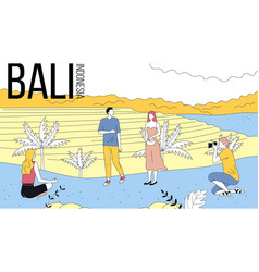 Concept of travelling to asia bali sightseeing vector
