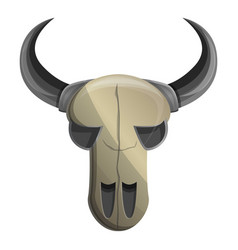 cow skull icon cartoon style vector image
