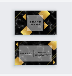 elegant golden luxury marble business card design vector image