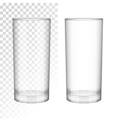 Empty glass cup realistic style vector