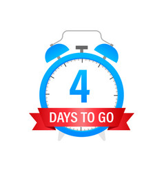Four days to go stock on white background vector