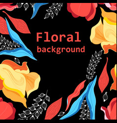 graphics floral bright pattern vector image
