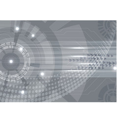 Gray digital technology concept abstract vector