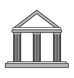 Greek building vector