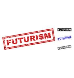 Grunge futurism textured rectangle watermarks vector