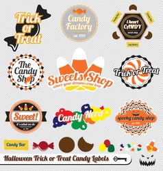 Halloween Trick or Treat Candy Labels vector