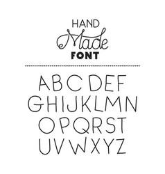 Hand made font alphabet vector