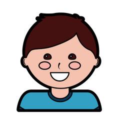 happy boy kid child icon image vector image