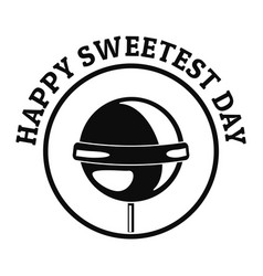 happy sweet day logo simple style vector image
