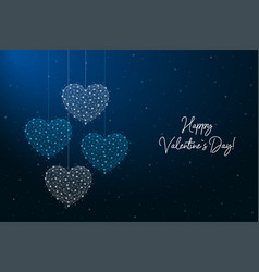 happy valentines day made points and lines vector image